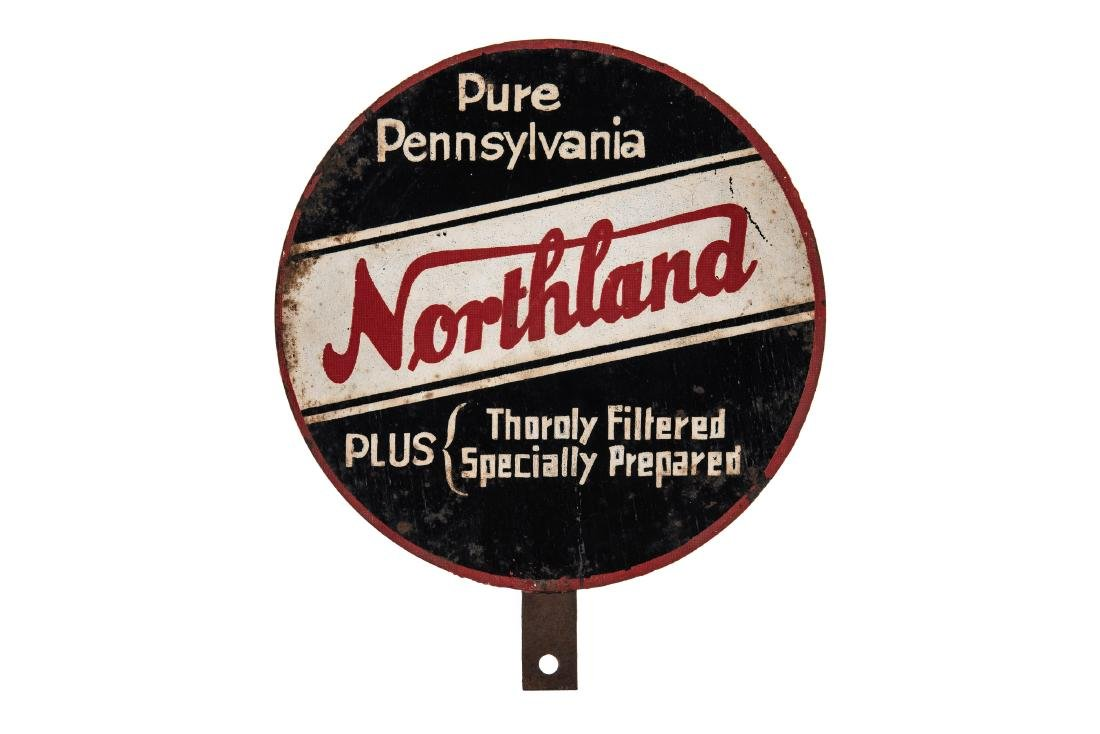 Northland Motor Oil Lubester Paddle Sign