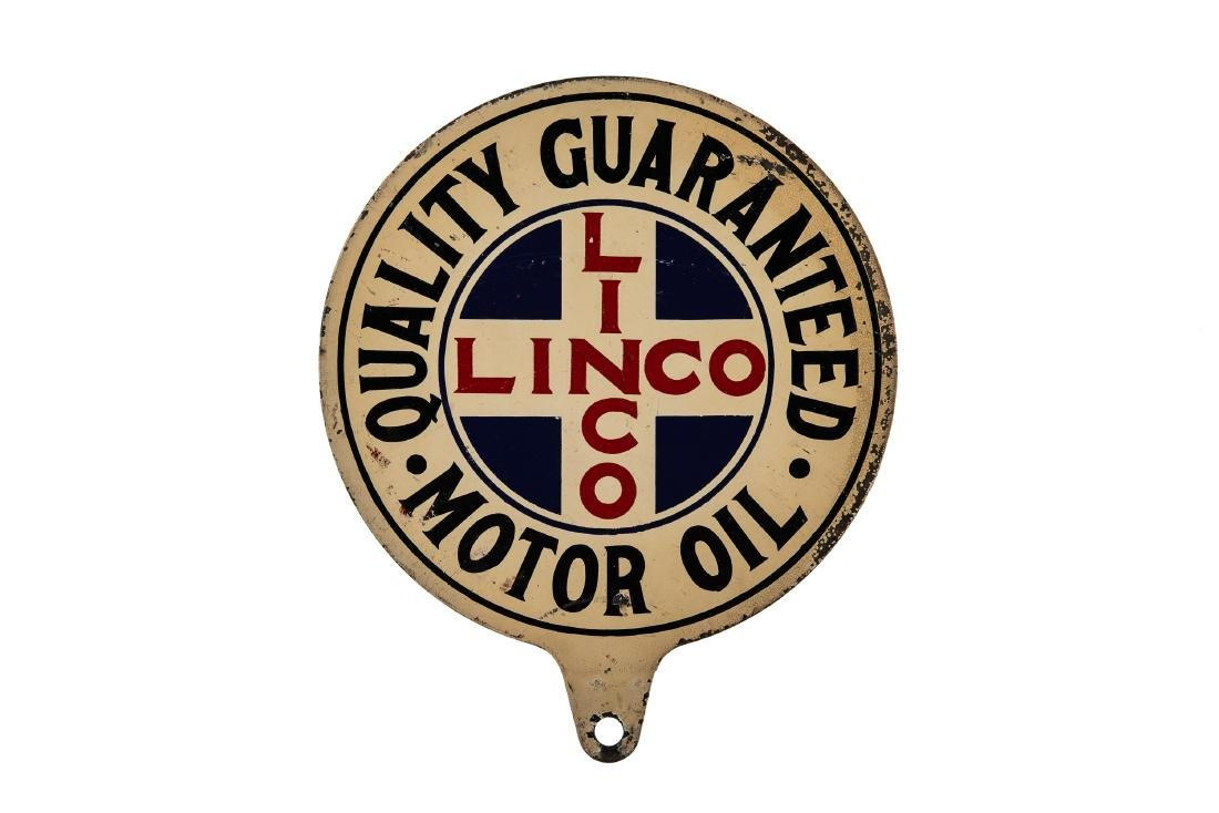 Linco Motor Oil Lubester Paddle Sign