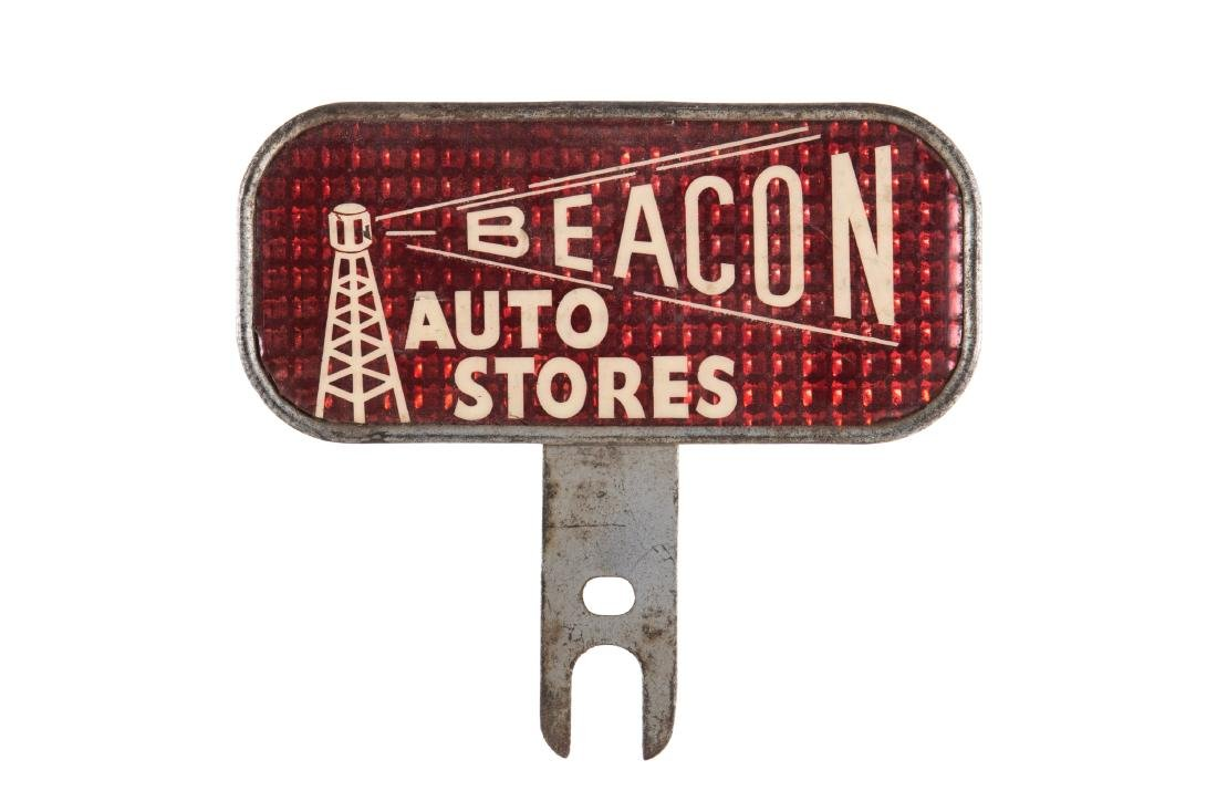 Beacon Auto Stores License Plate Topper