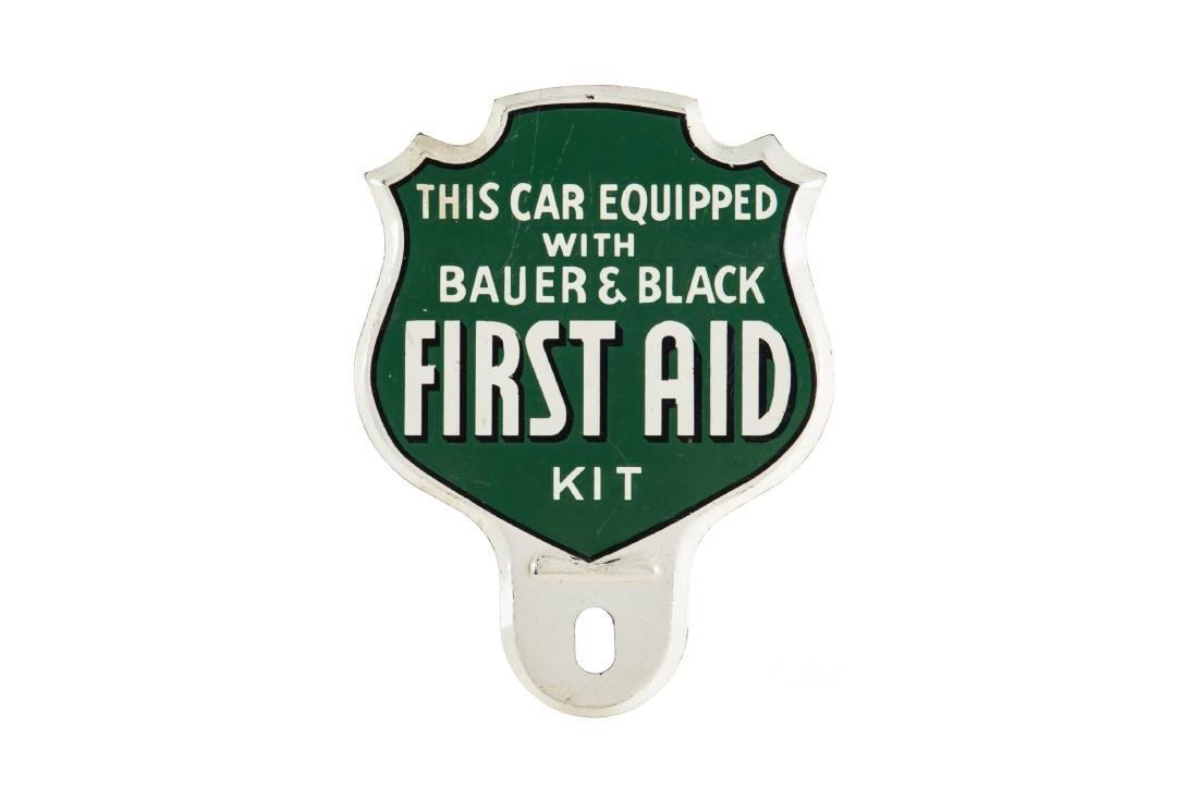 Bauer & Black First Aid Kit License Plate Topper