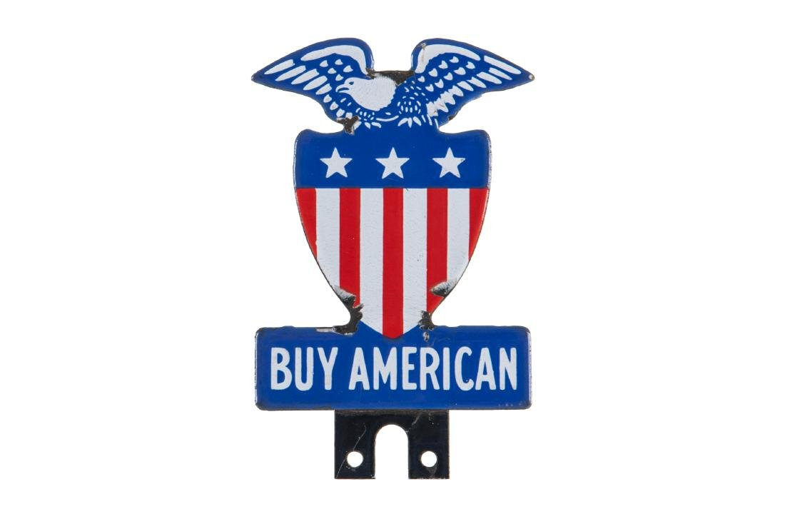 Buy American Porcelain License Plate Topper