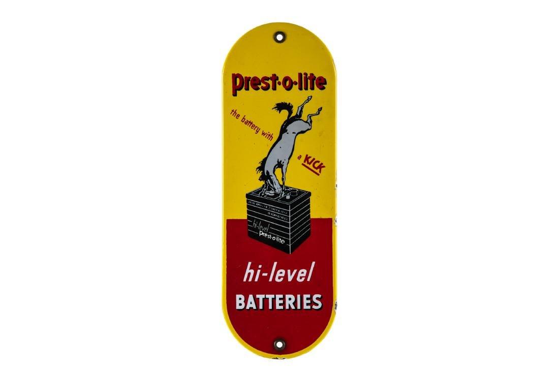 Prestolite Batteries Porcelain Palm Push