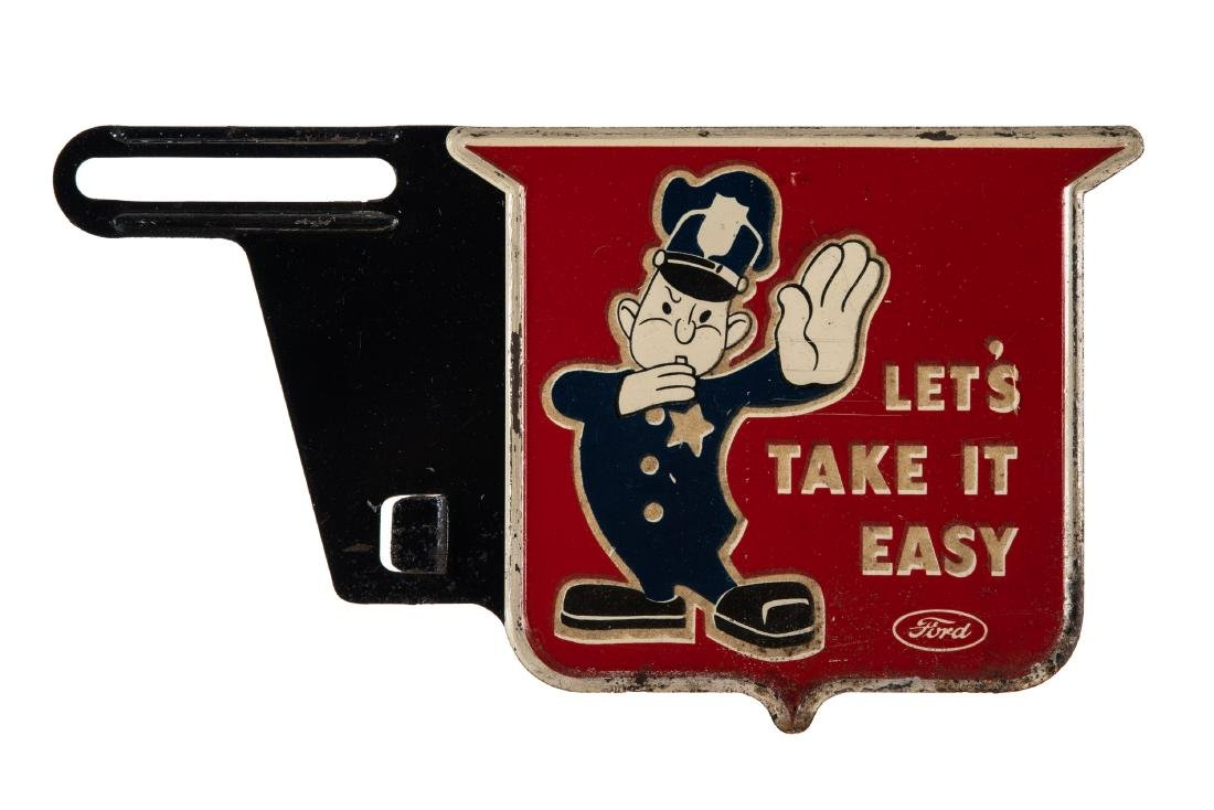 Ford Let's Take it Easy License Plate Topper