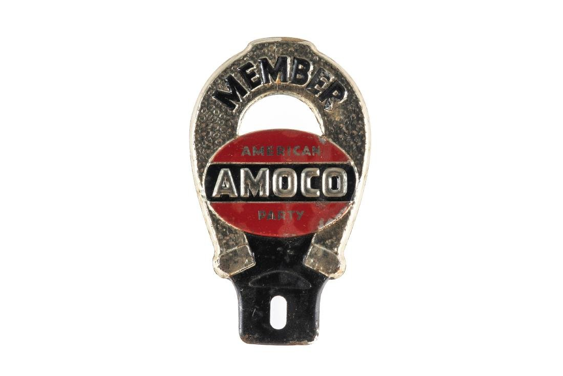 Amoco American Party License Plate Topper