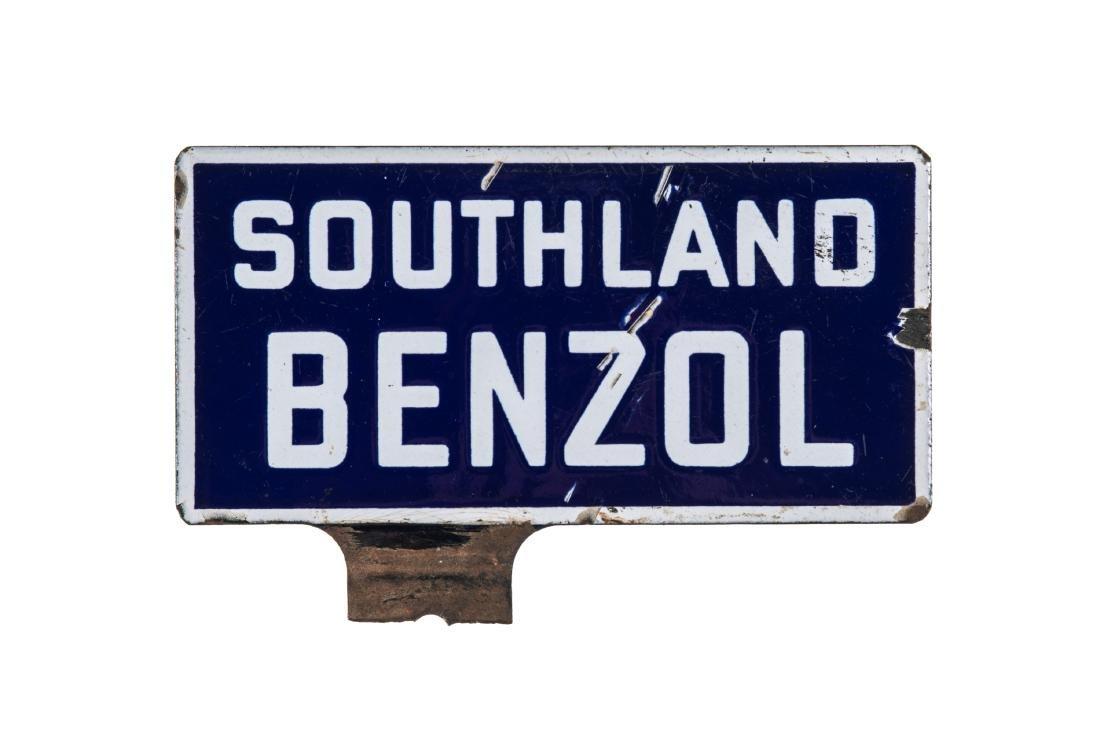 Southland Benzol Porcelain Sign