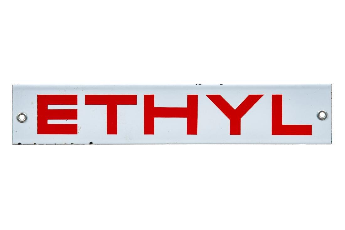 Ethyl Gasoline Porcelain Sign