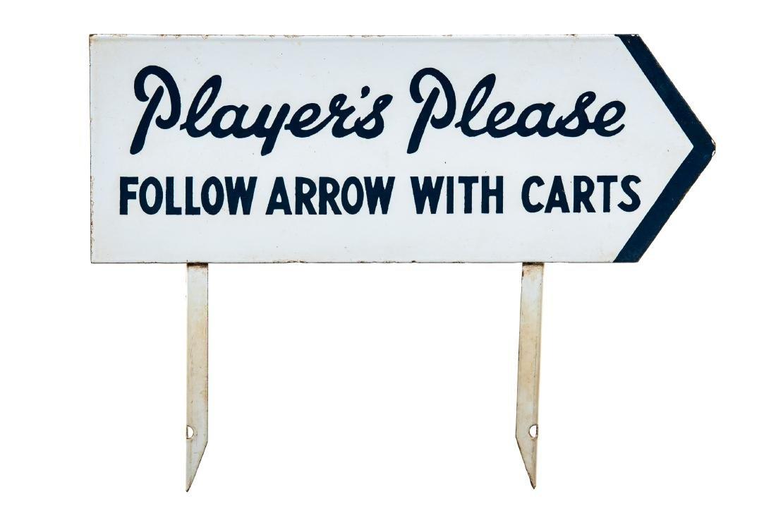Player's Please Porcelain Sign