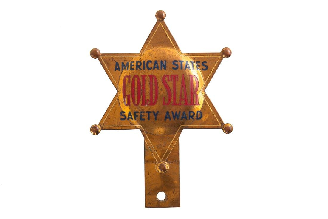 American States Safety Award License Plate Topper
