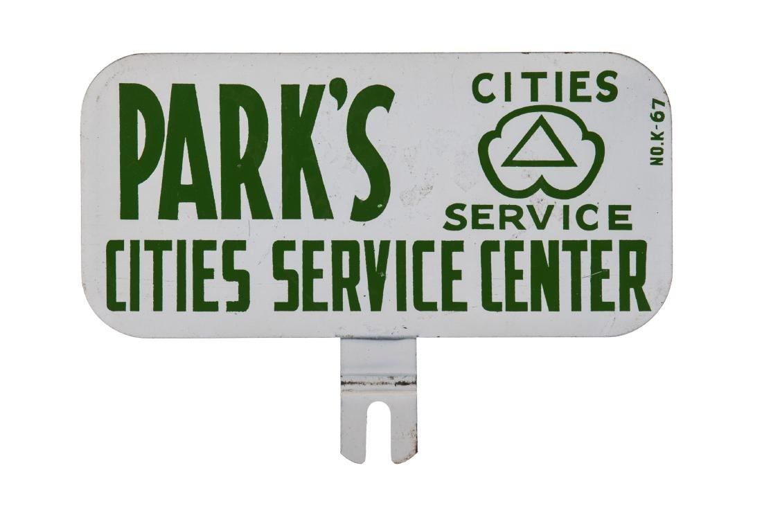 Cities Service License Plate Topper