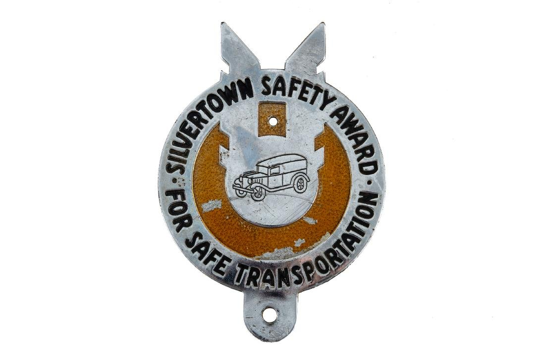 Goodrich Silvertown Safety Award Plate Topper