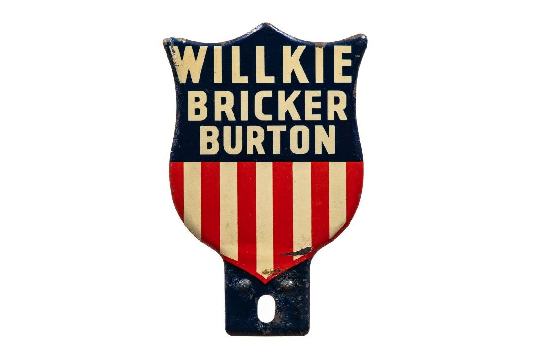 Willkie Bricker Burton License Plate Topper