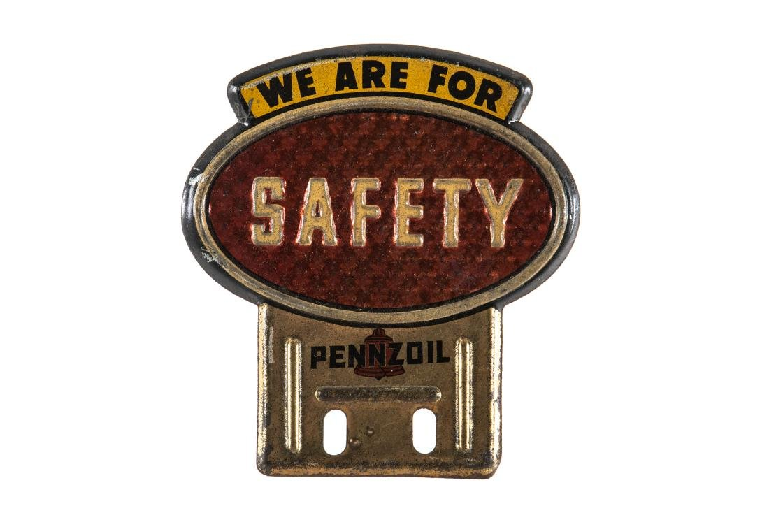 Pennzoil Safety License Plate Topper
