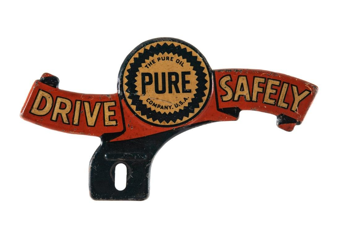 Pure Drive Safely License Plate Topper