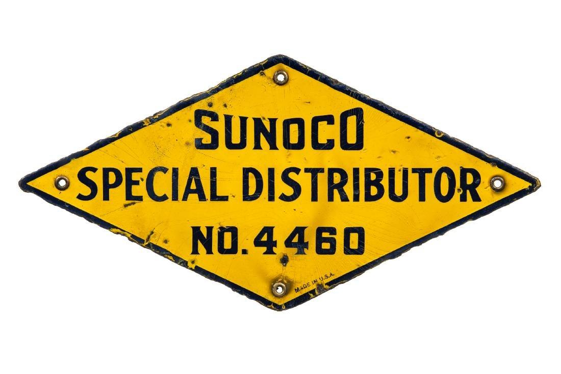 Sunoco Distributor Porcelain Sign