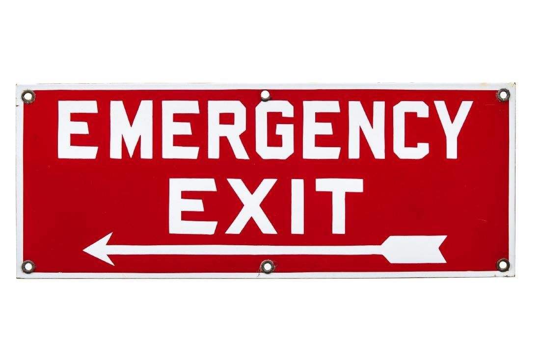 Emergency Exit Porcelain Sign
