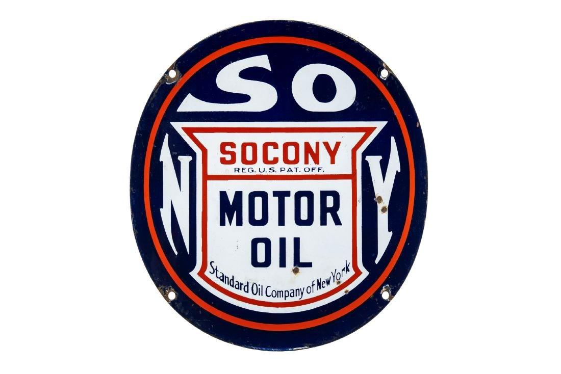 Socony Motor Oil Porcelain Sign