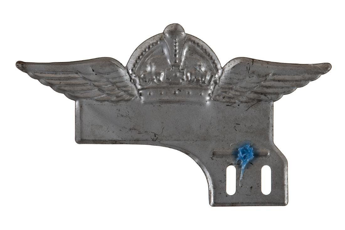Standard Red Crown License Plate Topper - 2
