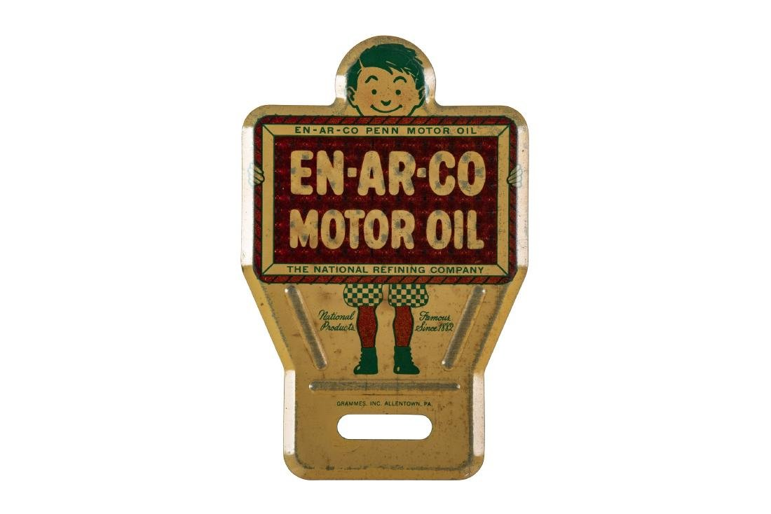 Enarco Motor Oil License Plate Topper