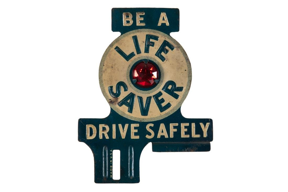 Life Saver Drive Safely License Plate Topper