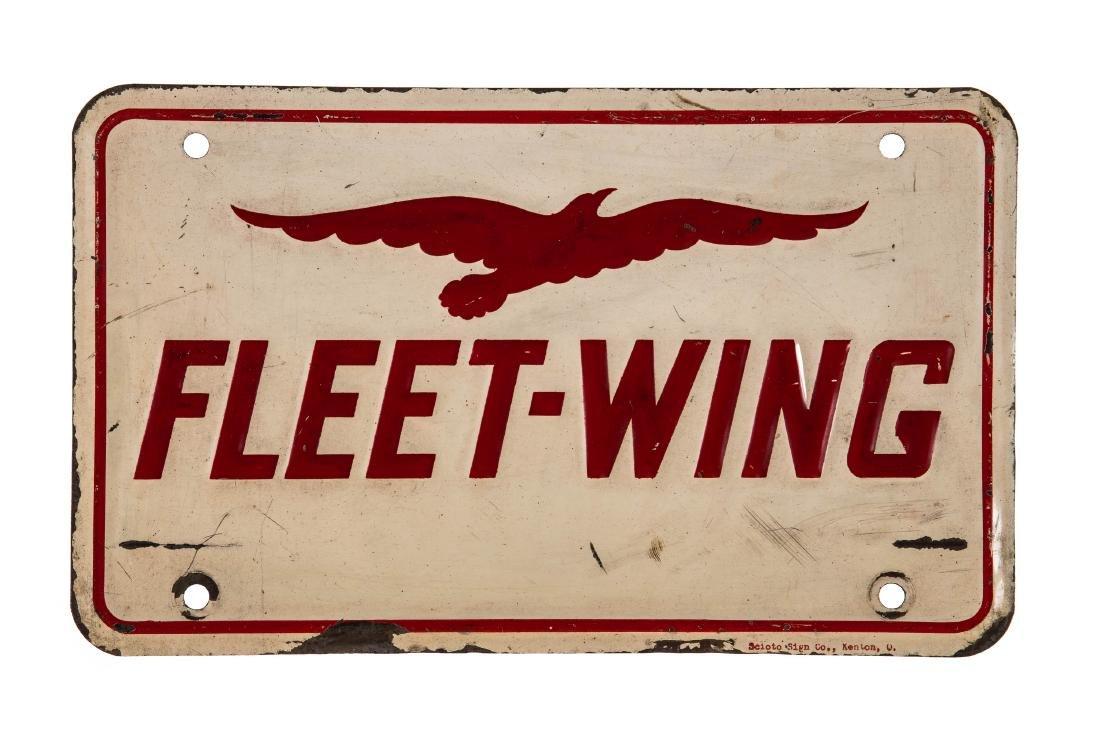 Fleet Wing Gasoline Gas Pump Plate