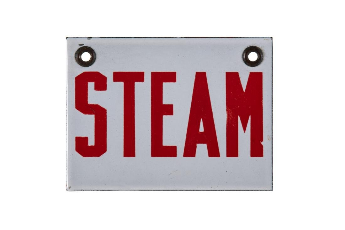 Small Steam Porcelain Sign