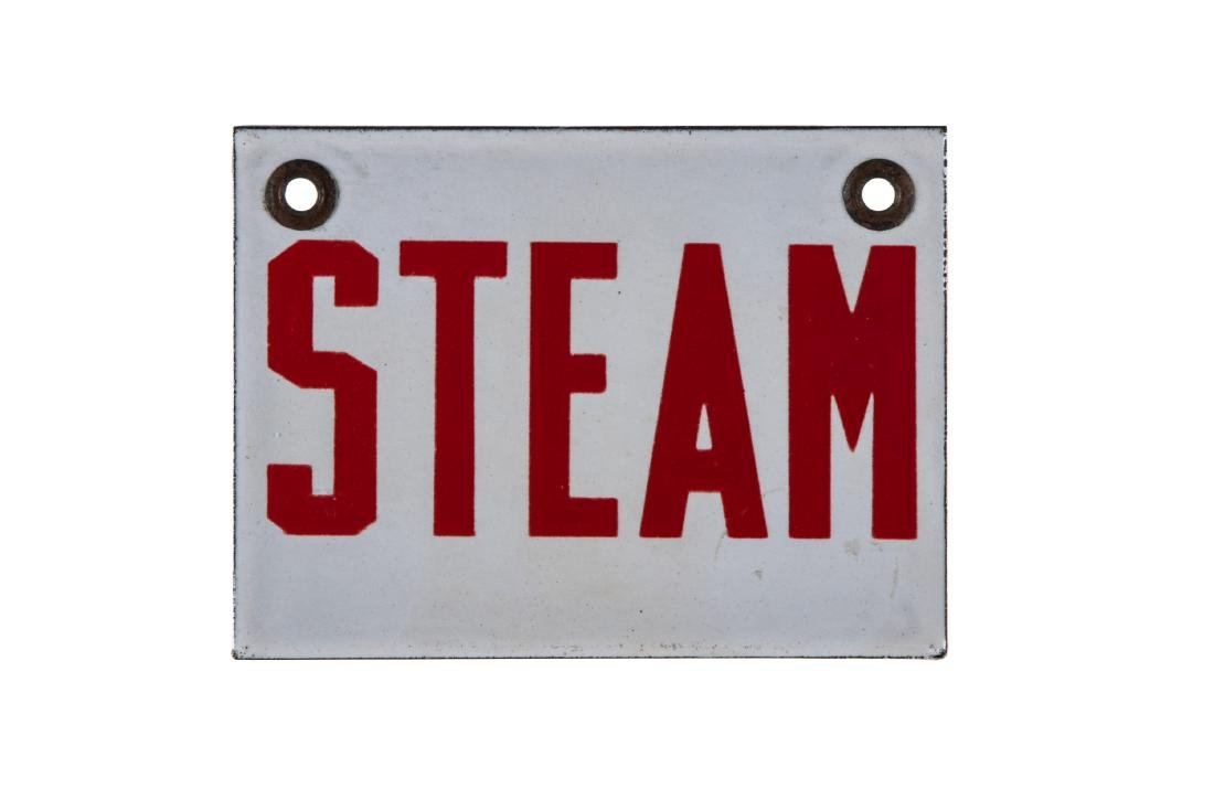 Small Steam Porcelain Sign - 2