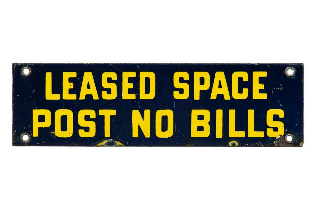 Leased Space Porcelain Sign