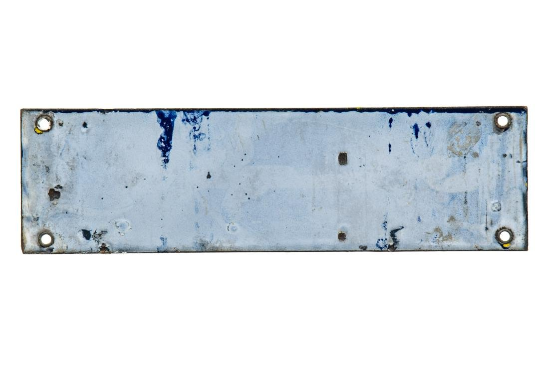 Leased Space Porcelain Sign - 2