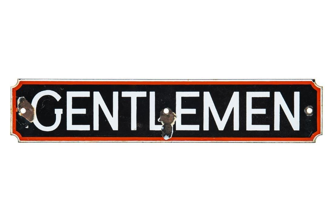 Signal Gasoline Gentleman Restroom Sign