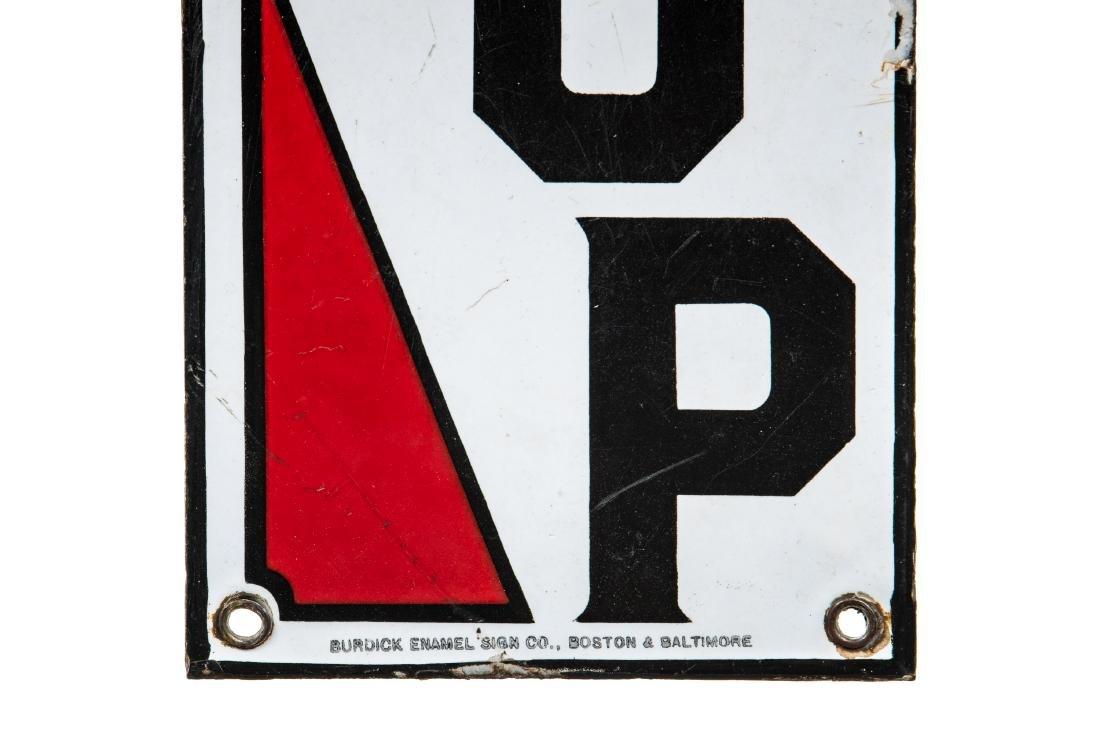 Bay Gasoline Porcelain Stop Sign - 2