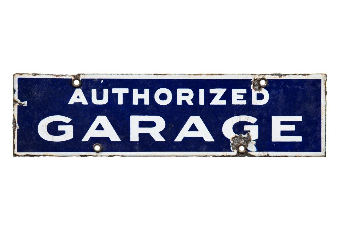 Early Authorized Garage Porcelain Sign