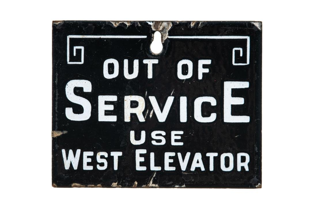 Early Out Of Service Porcelain Sign