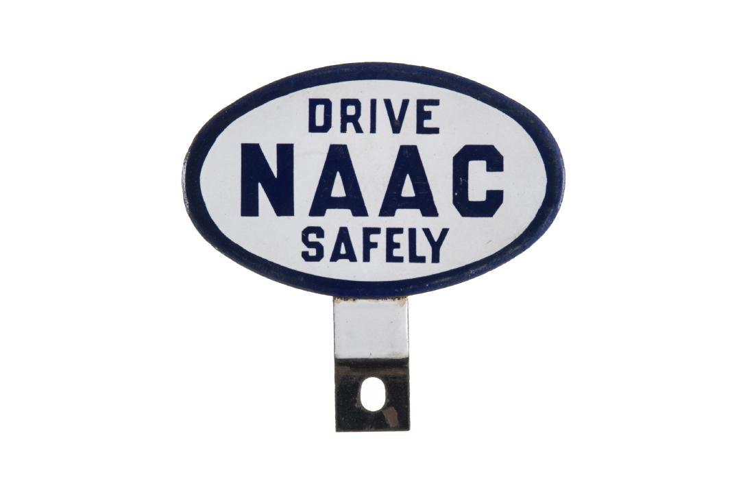 Drive Safely Porcelain License Plate Topper