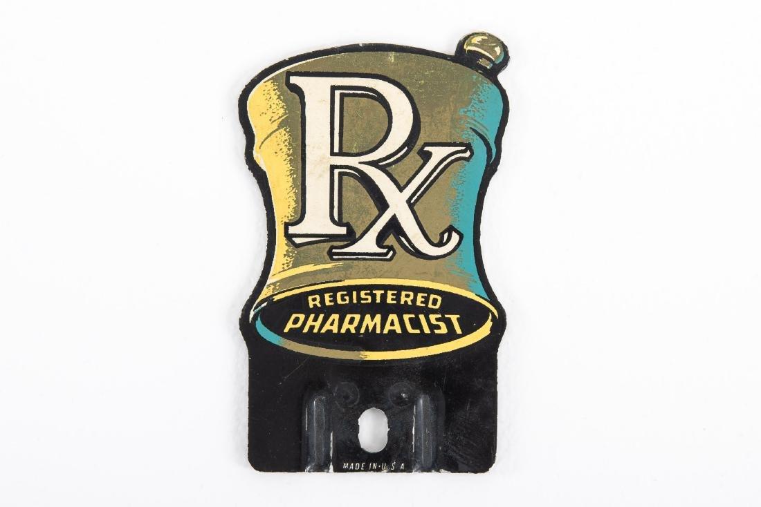 Pharmacist Perscription License Plate Topper