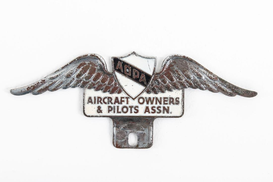 Aircraft Owners & Pilots License Plate Topper