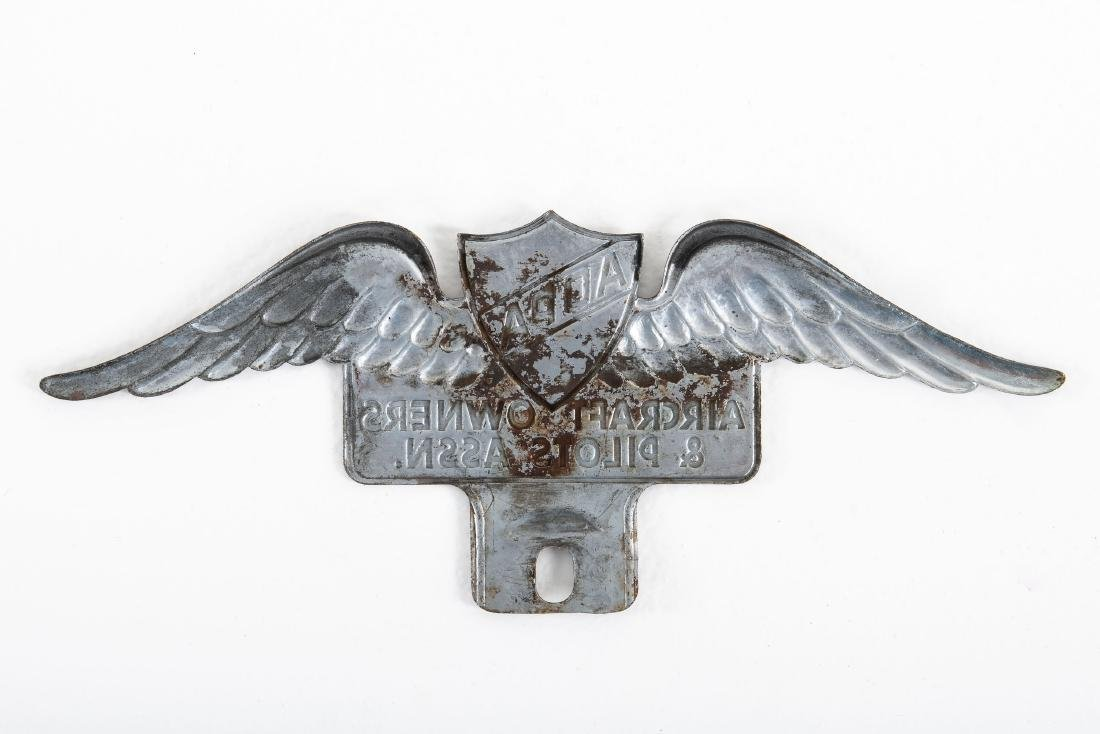 Aircraft Owners & Pilots License Plate Topper - 2