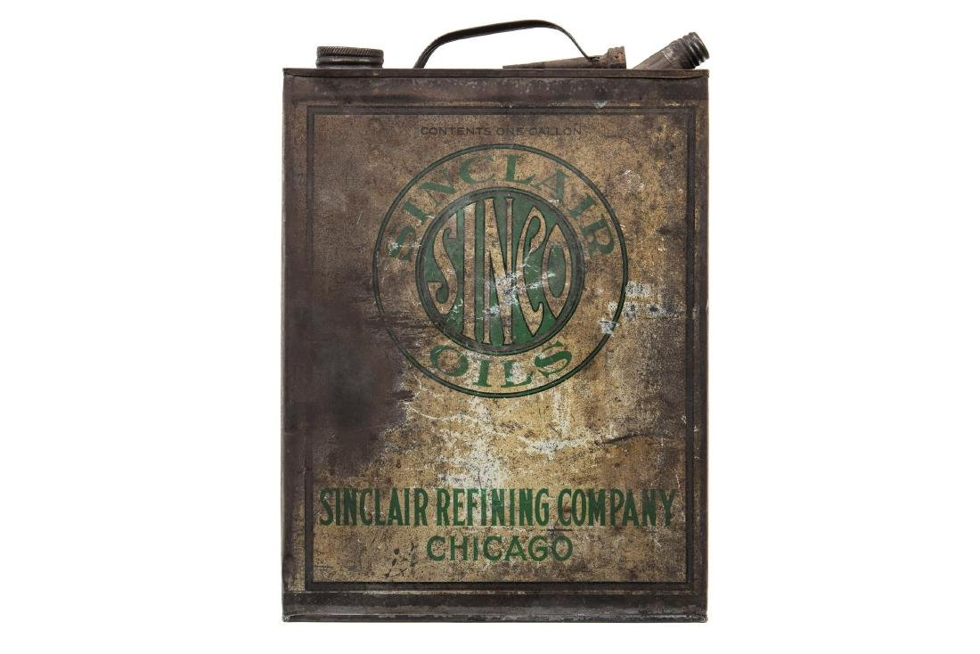 Early Sinclair Sinco Motor Oil Can