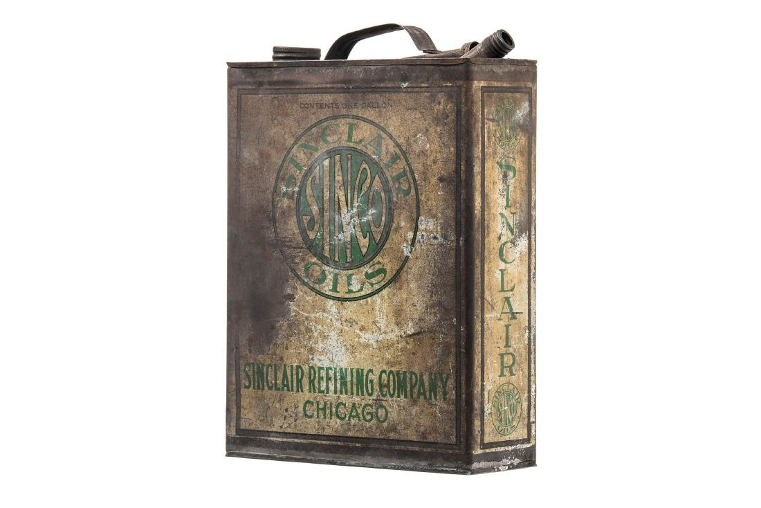 Early Sinclair Sinco Motor Oil Can - 2