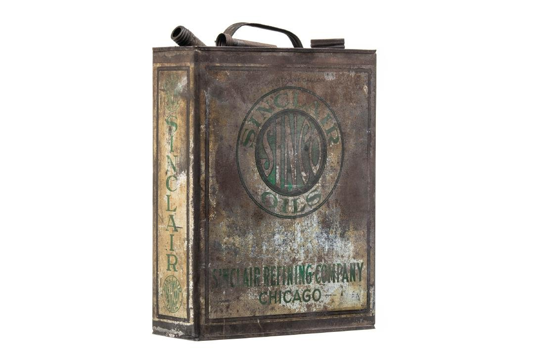 Early Sinclair Sinco Motor Oil Can - 8