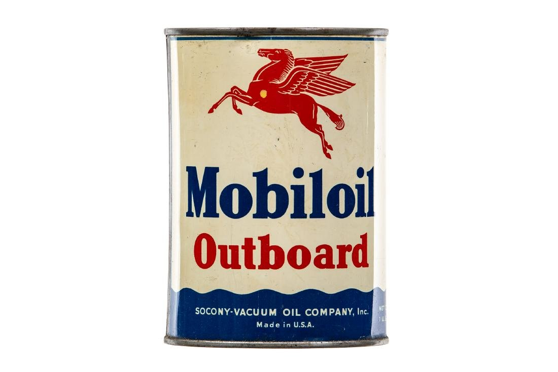 Mobil Outboard Motor Oil Can