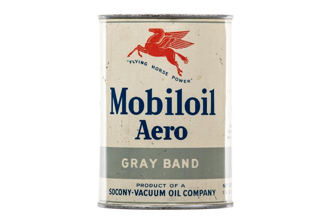 Mobil Aero Motor Oil Can