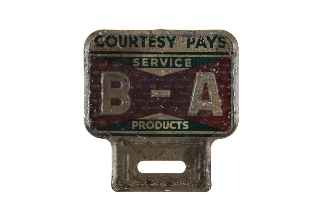 BA Service Products License Plate Topper