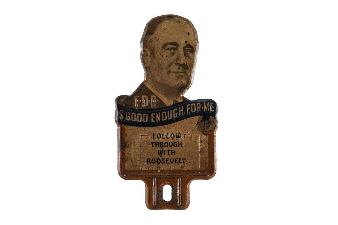Franklin D Roosevelt License Plate Topper