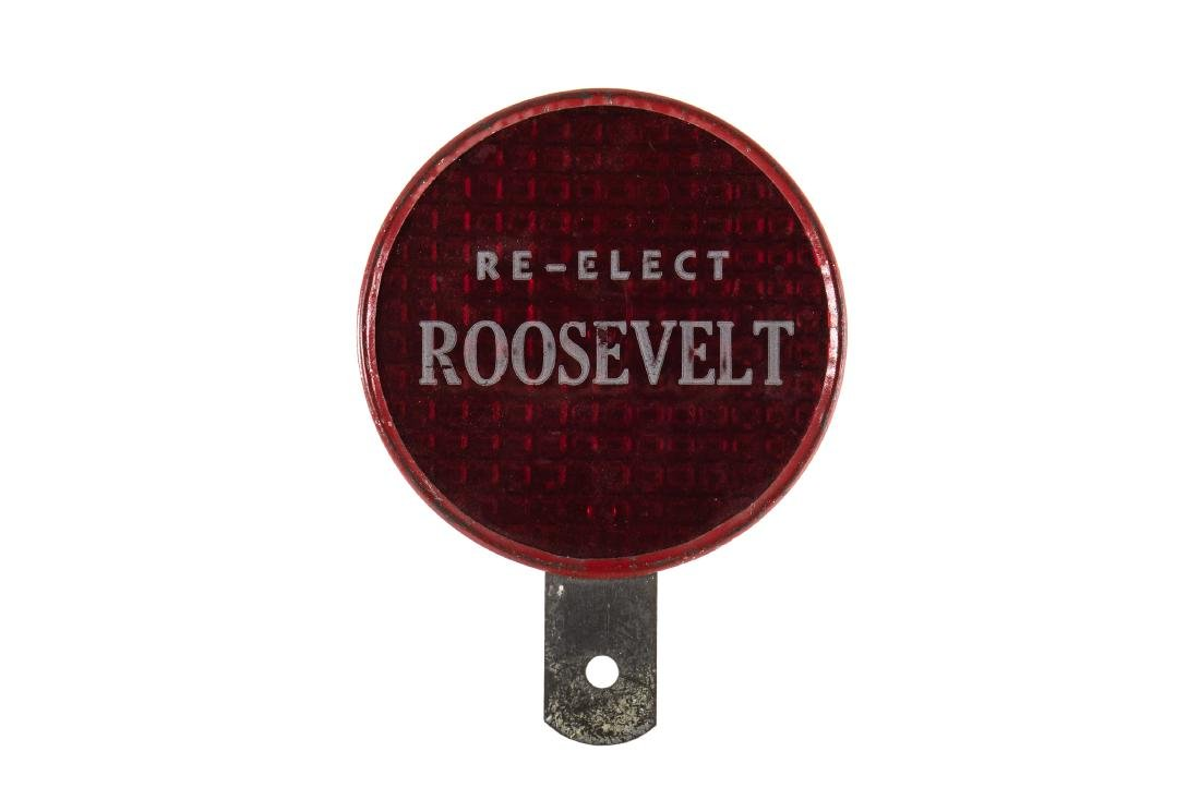 Re-Elect Roosevelt License Plate Topper