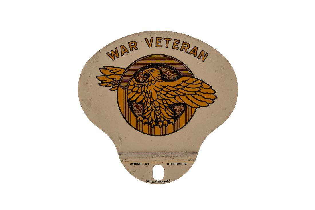 War Veteran License Plate Topper
