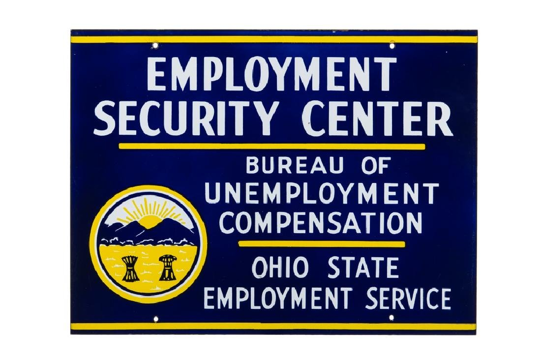 Ohio State Employment Service Porcelain Sign