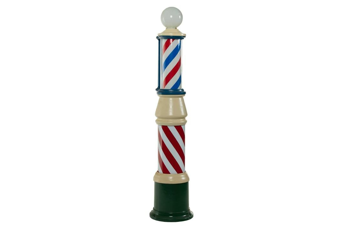 Restored Freestanding Barber Pole