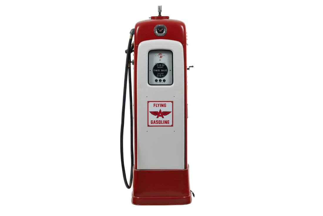 M&S Model 80 Tall Base Gas Pump Restored