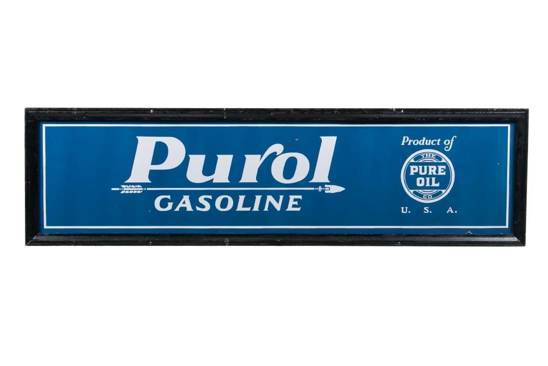Pure Oil Purol Gasoline Porcelain Sign