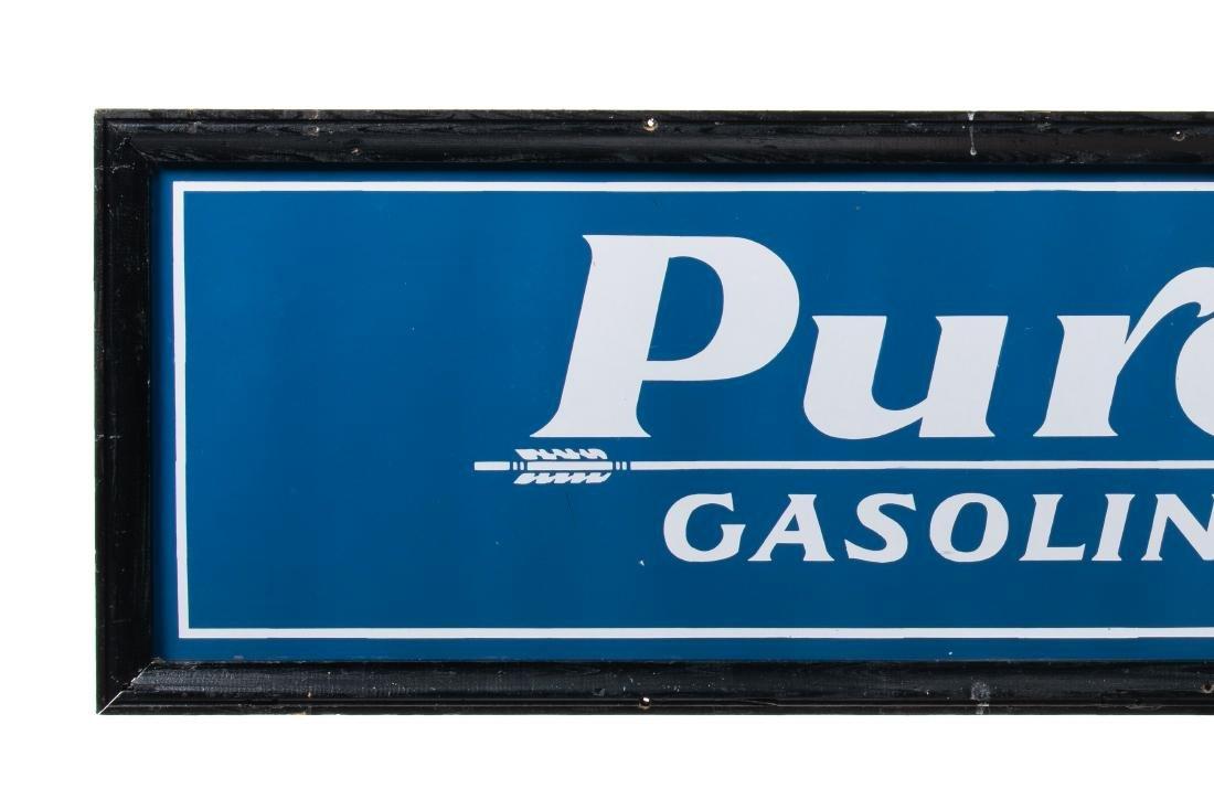 Pure Oil Purol Gasoline Porcelain Sign - 2